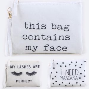 Fun Make up Pouches - 3 styles